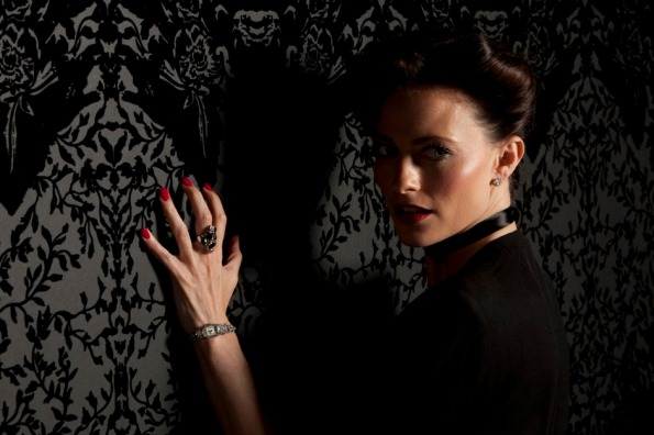 "Irene Adler as seen in the BBC's ""Sherlock"""