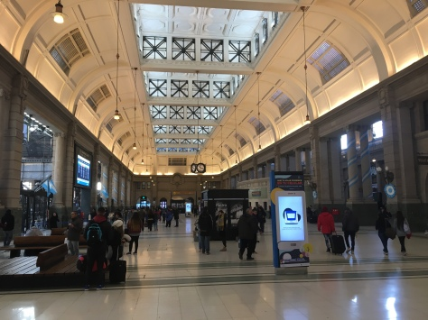 The interior of Estación Retiro in Buenos Aires.