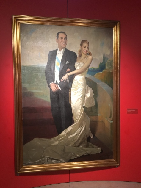 A painting of Juan and Eva Peron.