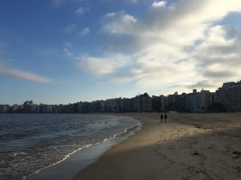 Pocitos Beach in Montevideo.