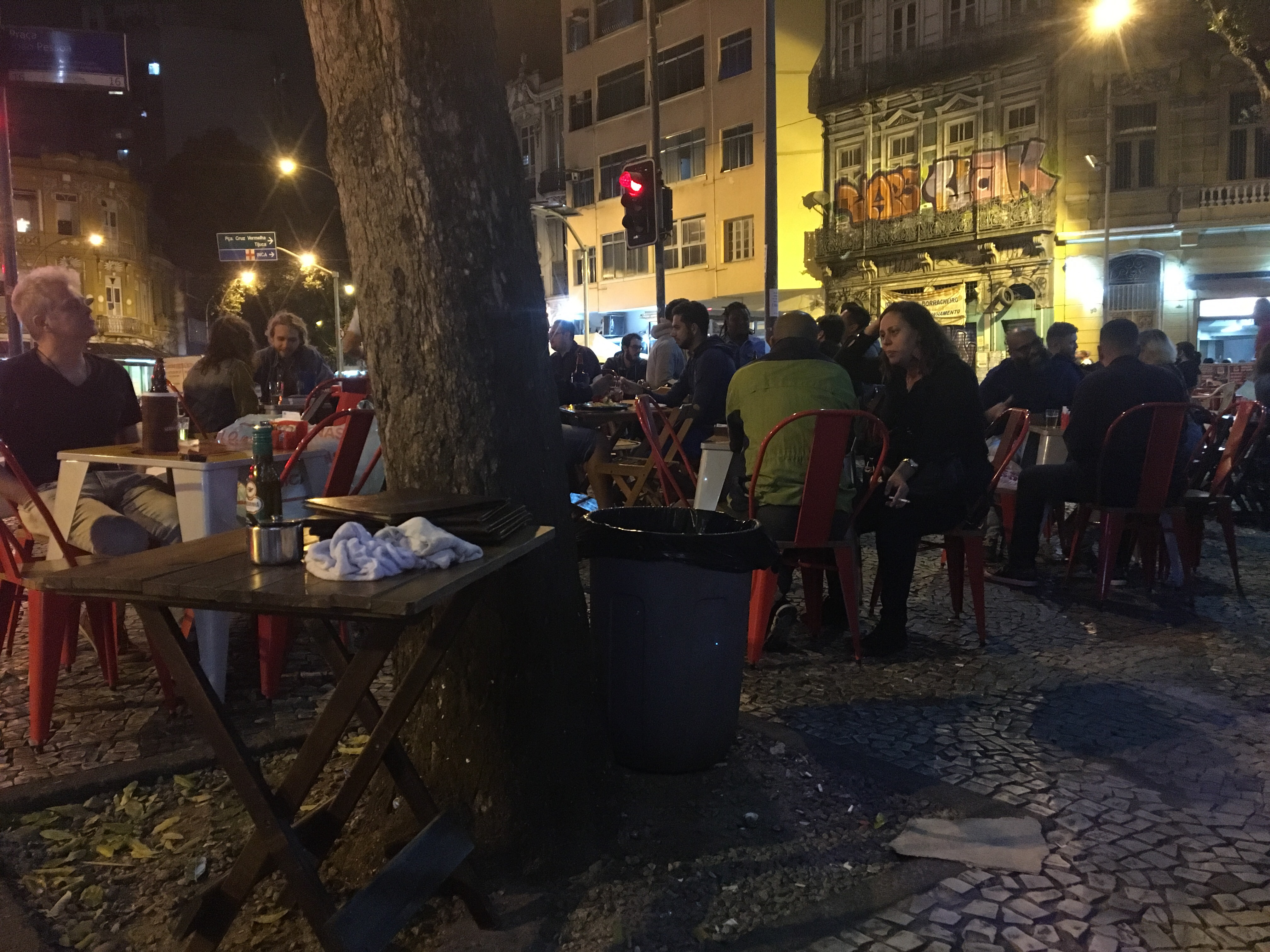 A streetside bar in Rio.