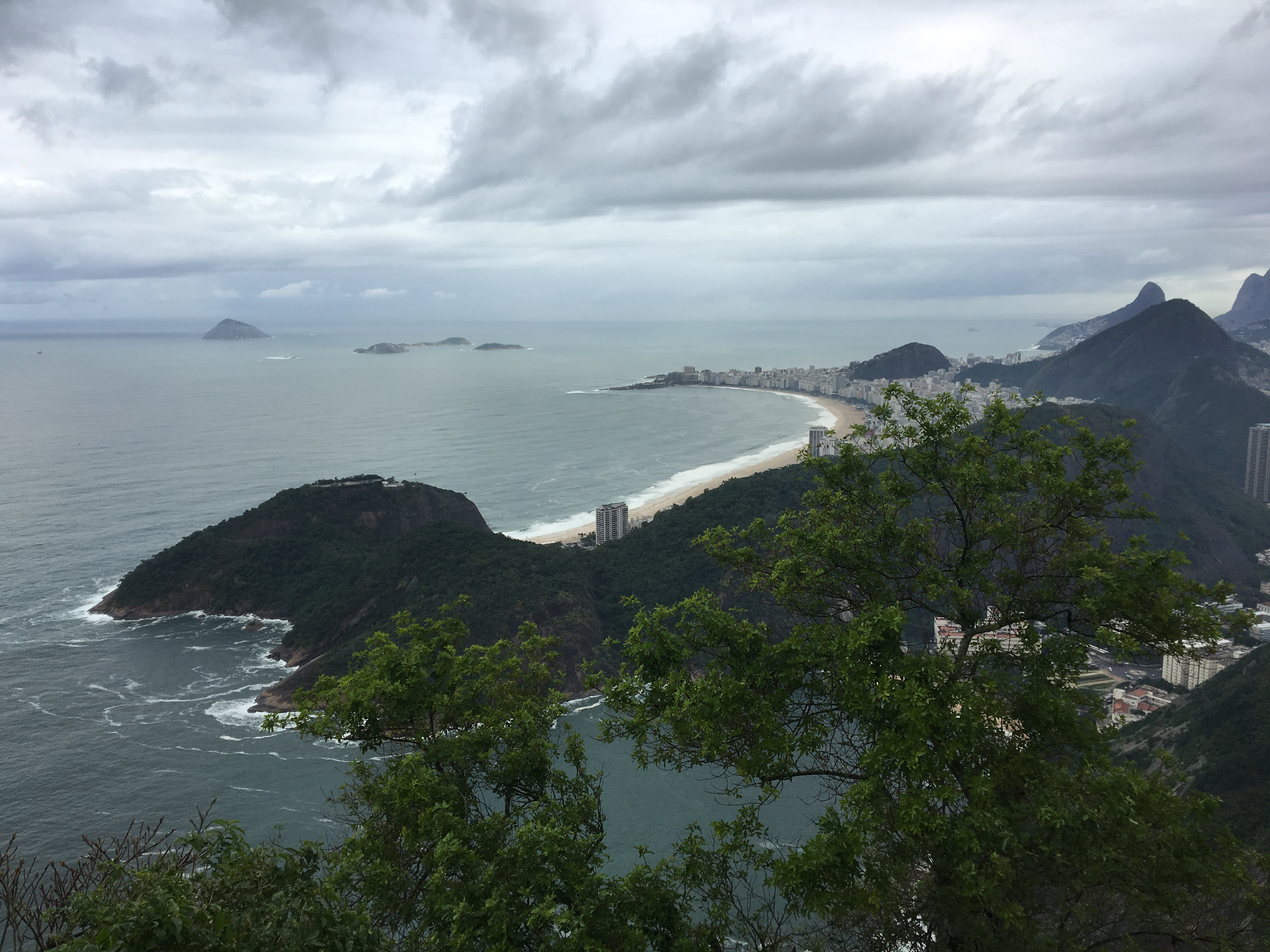 The Copacabana beach, as seen from the Sugarloaf.