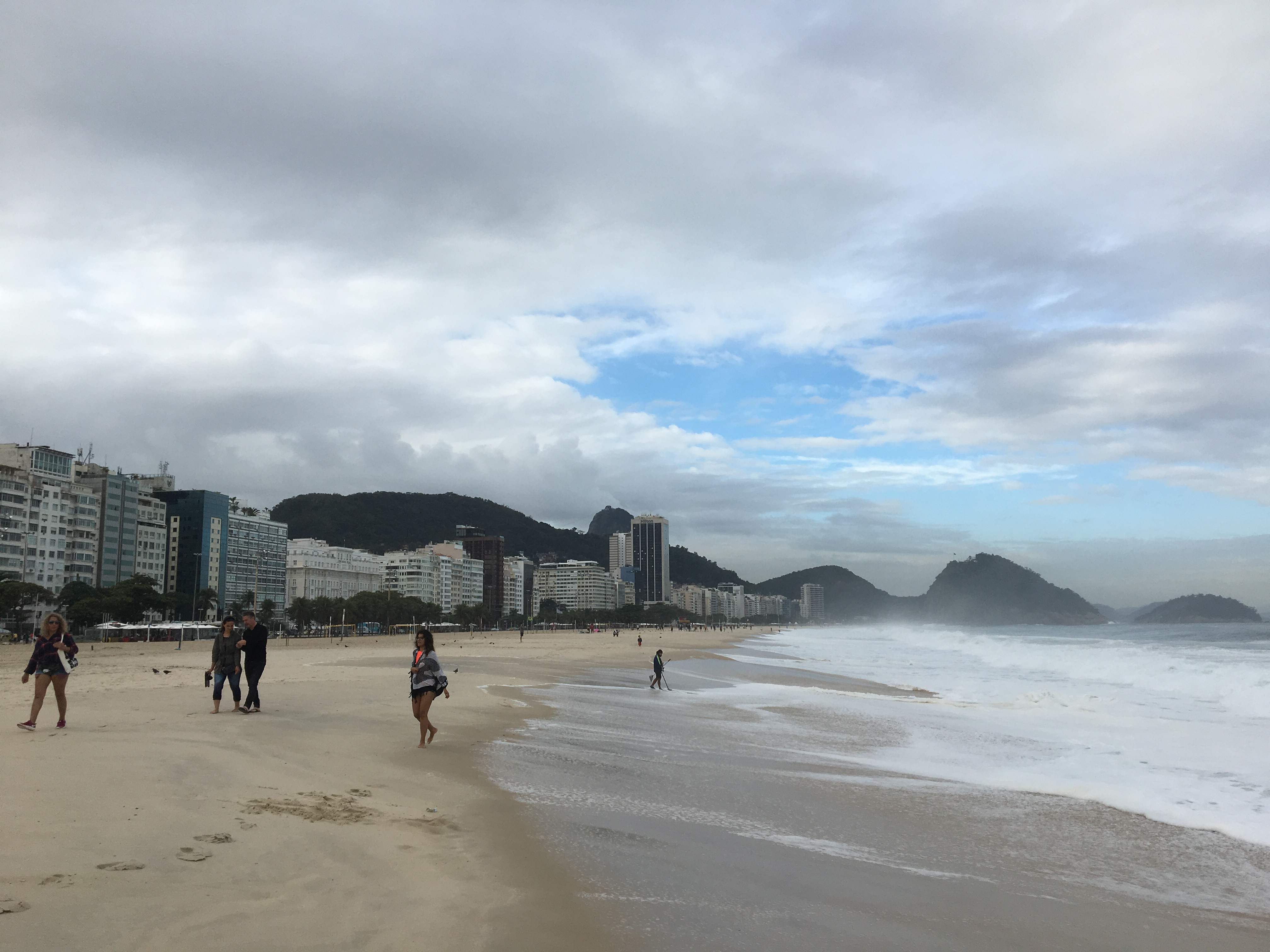 The Copacabana beach in winter.